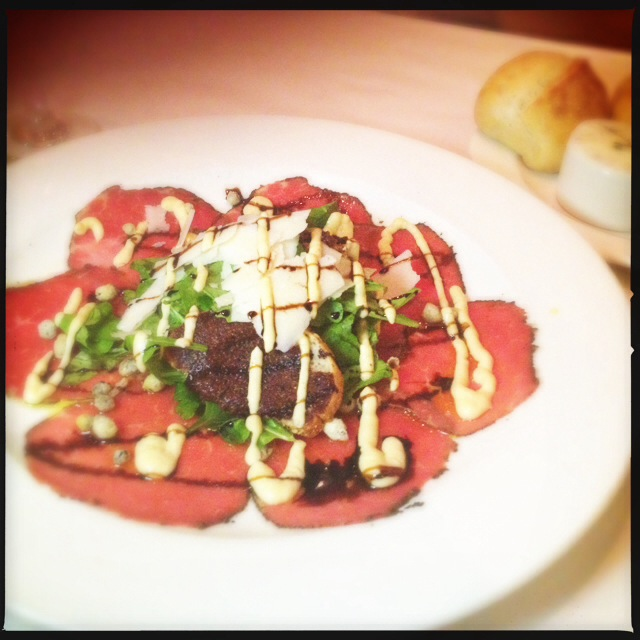 The Carpaccio has a lot going on. Photo by Vanessa Wolf