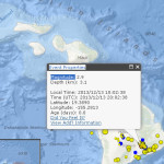 Hawaiʻi Island earthquake, Dec. 13, 2013. Map courtesy USGS/ Hawaiian Volcano Observatory.