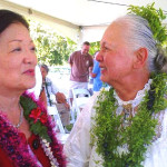 Joined at the Kīpahulu dedication by renowned kumu hula Gordean Lee Bailey a  living treasure of Hawaiʻi. Photo courtesy US Sen. Mazie Hirono.