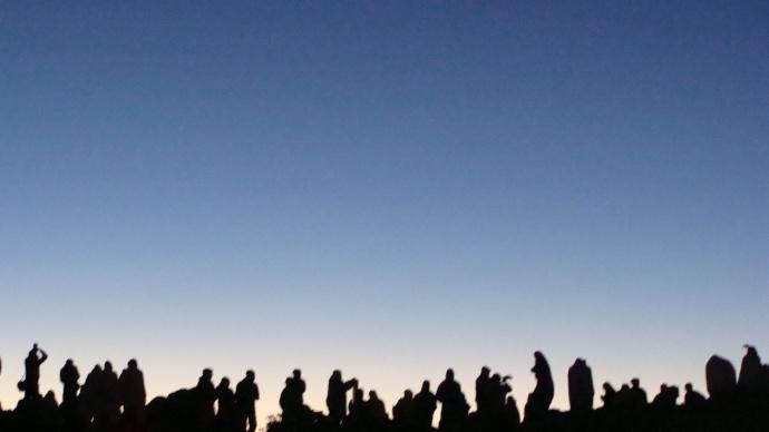 Sky watchers at the summit of Haleakalā. File photo by Wendy Osher.