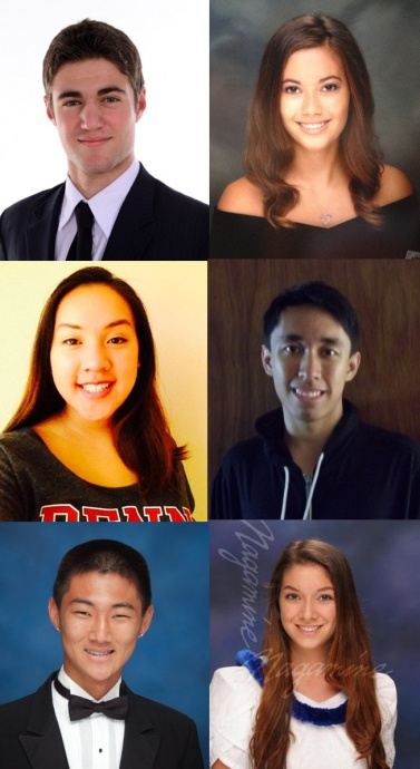Maui students (clockwise from top left): Ethan Finberg; Kylie Nathan; Kauaikekai Kealoha Kahakauwila Lara; Sarah Holter; Trent Hori; and Megan Kamalei Batangan.  Photos courtesy Office of US Senator Brian Schatz.