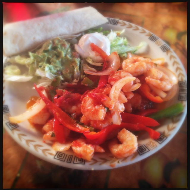 "The Shrimp ""Fajitas."" Photo by Vanessa Wolf"