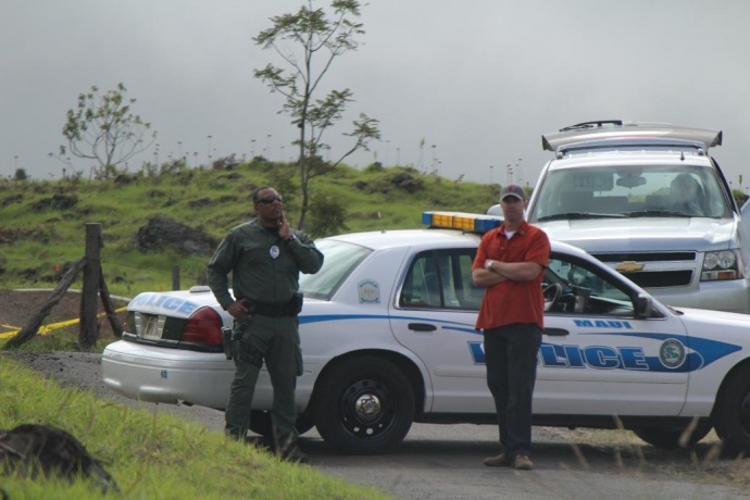 Security detail in Kula. Photo by Wendy Osher.