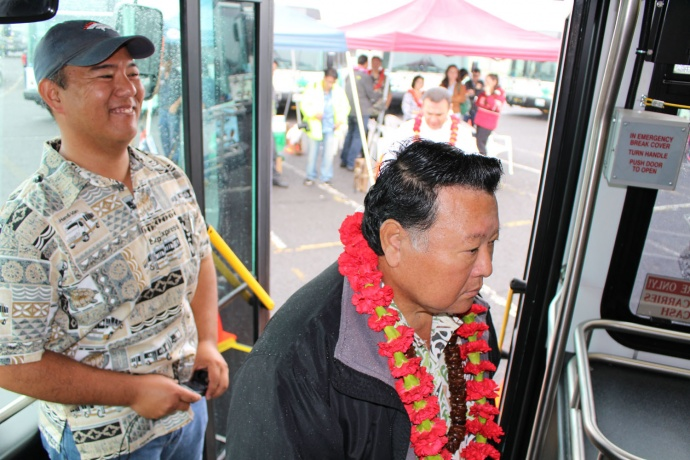 Maui Bus dedication, Jan. 27. 2014. Photo by Wendy Osher.