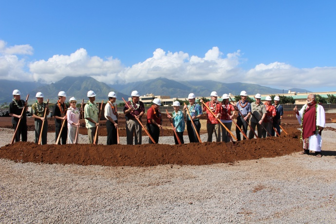 Groundbreaking of the Pu'unēnē Shopping Center that will house Maui's first Target store. Photo by Wendy Osher.