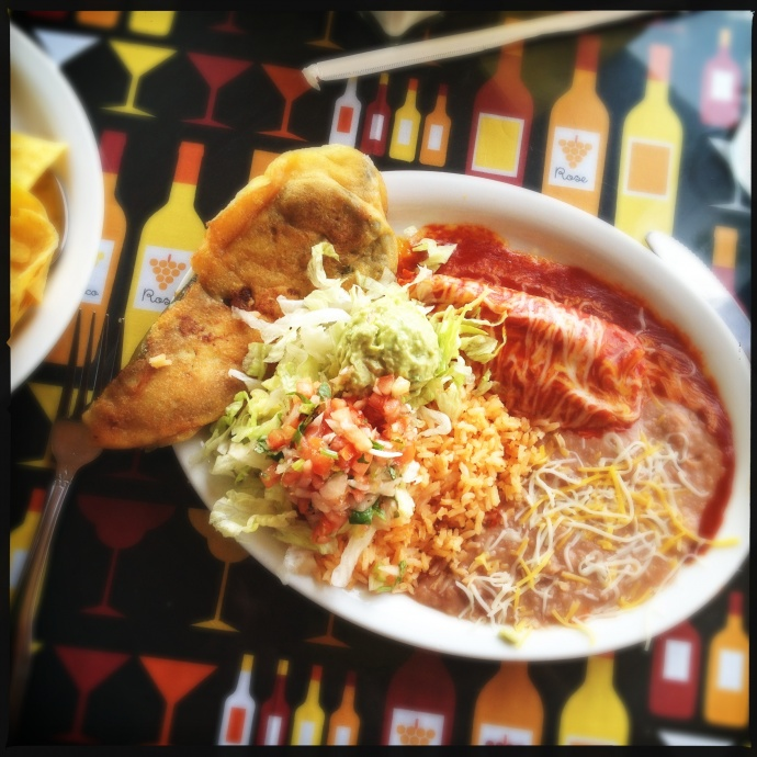 The Tamale and Relleno Combo Plate may have spent some had plenty of time to think deep thoughts before making its way to us. Photo by Vanessa Wolf