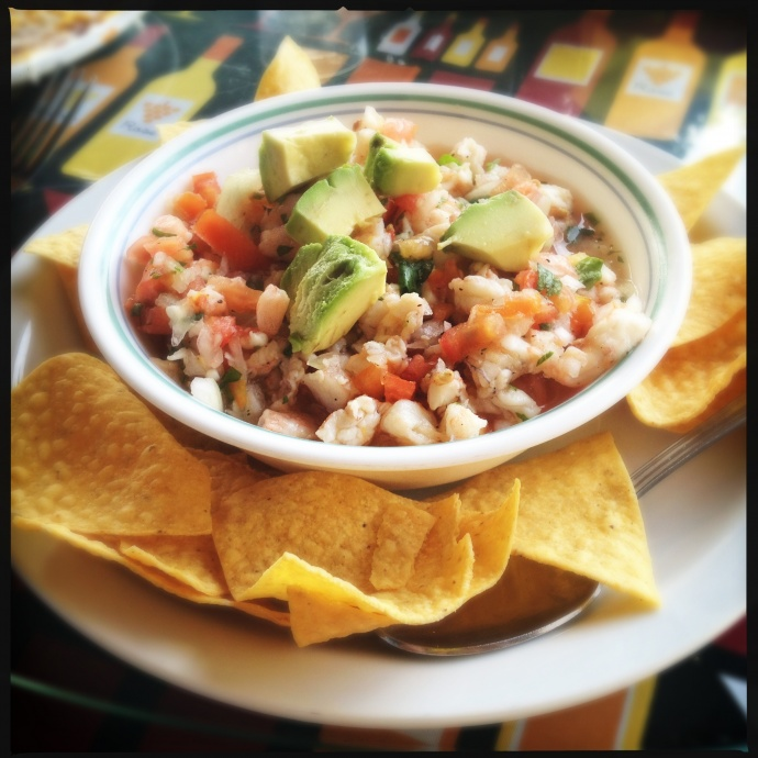 Large Shrimp Ceviche Bowl: the Kihei version. Photo by Vanessa Wolf