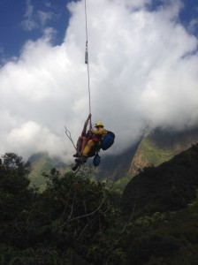 Iao Valley rescue, 1/18/13.  Maui Fire Department photo.