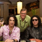 Paul Stanley, Charles Head (General Manager of The Fairmont Kea Lani, Maui) and Gene Simmons at Kō restaurant in Wailea. Courtesy photo.