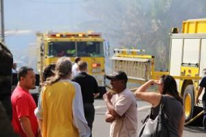 Kailana Street Fire, photo by Wendy Osher, Jan. 6, 2014.