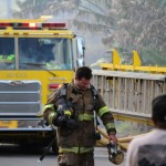 Kailana Street Fire, photo by Wendy Osher, Jan. 6, 2014.