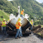 Kahakuloa road resurfacing. Photo courtesy County of Maui.