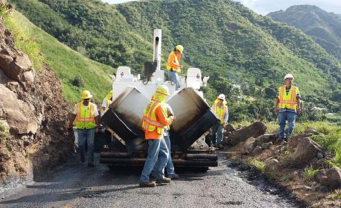 Kahakuloa road resurfacing. Photo courtesy County of Maui.