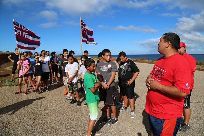 Students participate in the Ho'olauna Kona program, a part of Kamehameha Schools' Explorations Series. Courtesy photo.
