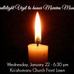 """Moreira """"Mo"""" Monsalve candlelight vigil. Image courtesy http://www.facebook.com/mowatchmoreiramonsalve"""