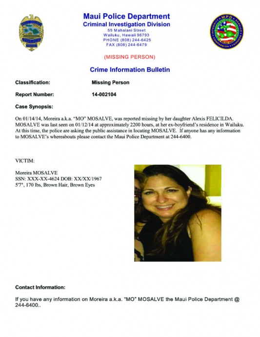 mosalve missing person bulletin