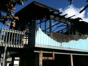 Kailana Street fire, photo courtesy Maui Fire Department.