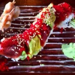 The spectaularly beautiful Red Dragon Roll. Isn't that also a Hannibal Lecter movie? Photo by Vanessa Wolf