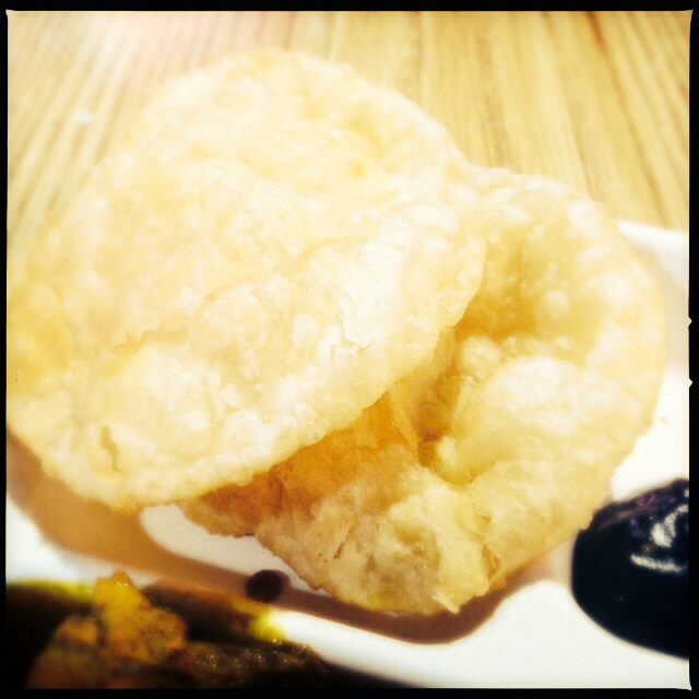 The deep-fried Puri. Photo by Vanessa Wolf