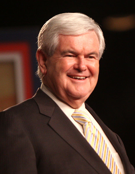 Newt Gingrich. Image courtesy Wikipedia.