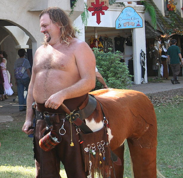 One bold, probably tripping on an illegal substance of some sort dude at a Renaissance Faire. Image courtesy Wikipedia.