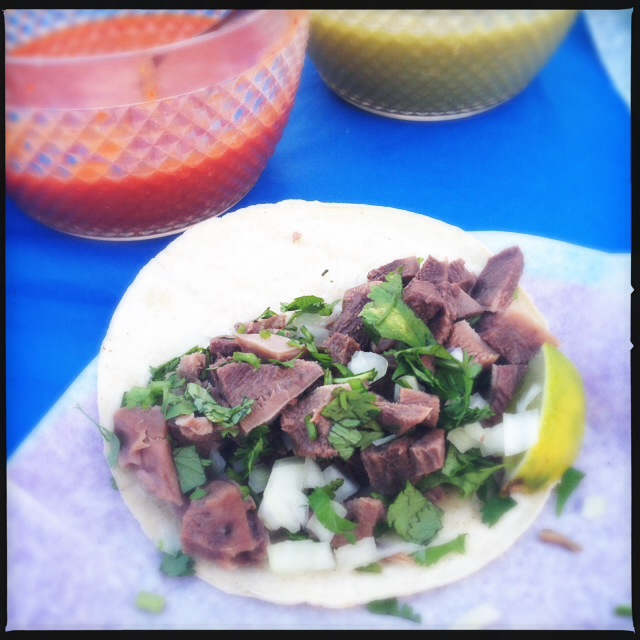 The Lengua Tacos. Photo by Vanessa Wolf