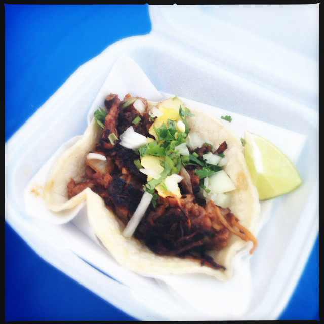 The Al Pastor Taco. Ole! Photo by Vanessa Wolf