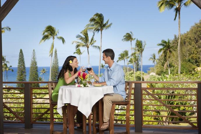 Romantic dining at Kauiki Restaurant. Photo courtesy Travaasa Hana.