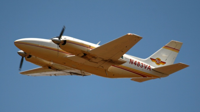 N483VA photographed departing Kahului on August 13, 2007. The FAA identified the plane in a preliminary report as the one that crashed on Wednesday. Photo credit; OGGTurbojets
