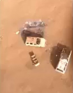 Aerial view of where Charli's vehicle was found on Wednesday evening. Photo 2/13/14, courtesy Morey Inc, Alton Franco/Pat Mulligan/Sol Morey.
