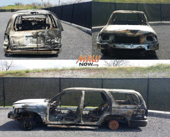 """Carly """"Charli's 4Runner, pictured here, was recovered by Maui police. MPD photo."""