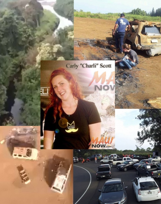 Aerial and on scene photos 2/13/14, courtesy Morey Inc. Photo of Carly Scott courtesy family.