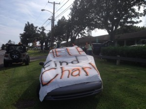 Search for Charli along the Hāna Highway. Photo 2/13/14, courtesy Morey Inc.