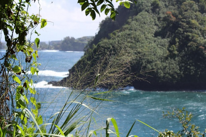 Just beyond Honomanu is Nuaʻailua Bay where Charli's clothing and blanket were found. Photo by Wendy Osher.