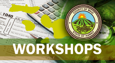 Maui County Business Resource Center workshops. Image courtesy County of Maui.
