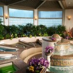 Spa Grande's baths are filled with chocolate for the event. Photo courtesy Grand Wailea