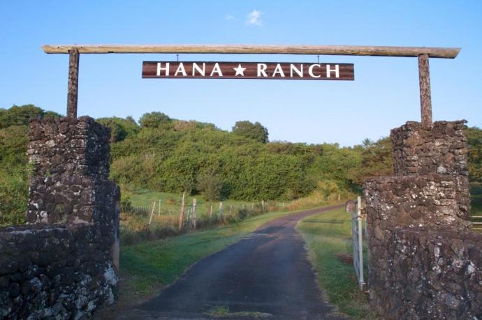 A gateway of the Hana Ranch. Courtesy photo.
