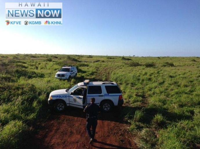 Lānaʻi plane crash site, photo courtesy Hawaii News Now.