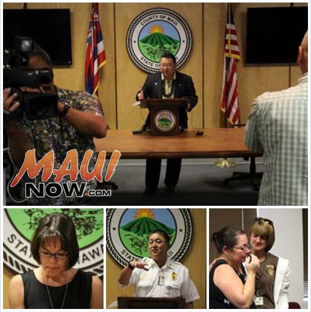 Lānaʻi plane crash press conference hosted by Maui Mayor Alan Arakawa. Photos by Wendy Osher.