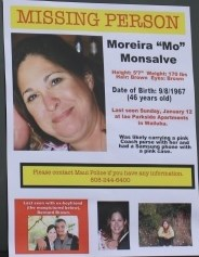 """Moreira """"Mo"""" Monsalve, missing person flyer. Photo by Wendy Osher."""