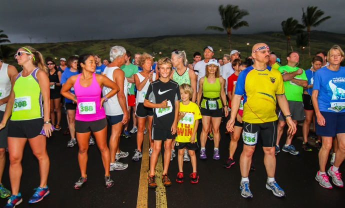 Run for the Whales, photo courtesy:  Reis Shimabukuro, Professional Photographer, Pacific Whale Foundation.