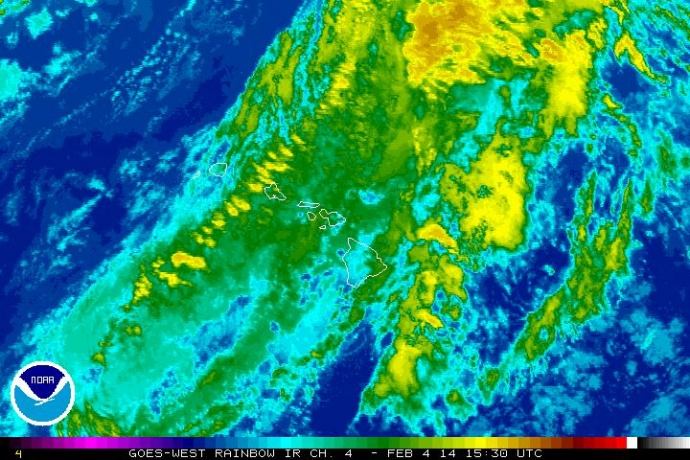 Satellite imagery Tuesday, Feb. 4, 2014, 5:30 a.m. courtesy NOAA/NWS.