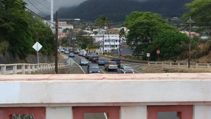 Main Street view from Wailuku Bridge.  File photo by Wendy Osher.