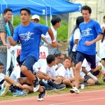 Kamehameha Maui in the boys 400 relay. Photo by Rodney S. Yap.