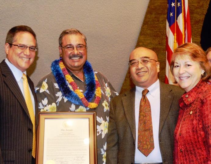 Maui Senators with Michael Nobriga. Courtesy Photo.