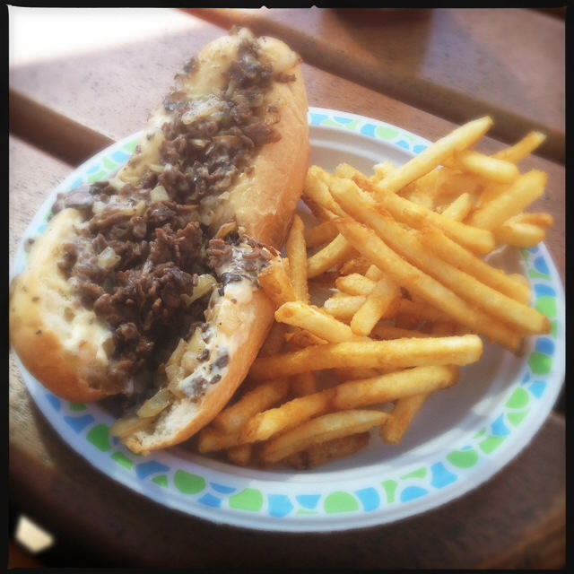 Hey little cheesesteak, is your daddy home. Photo by Vanessa Wolf
