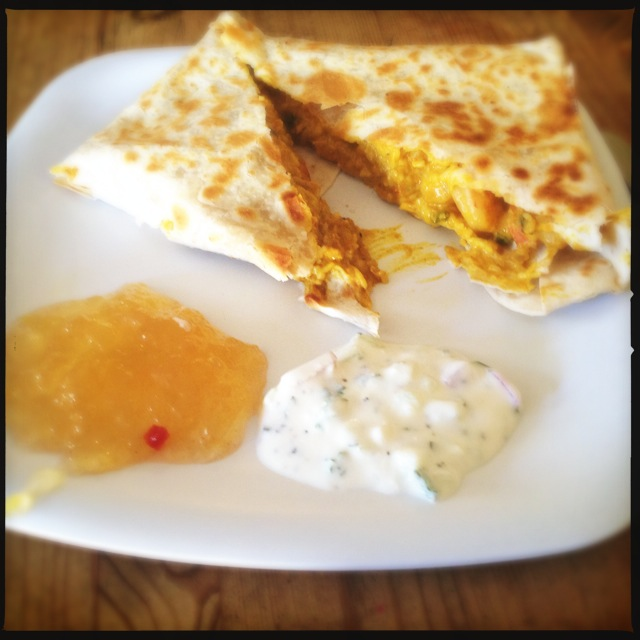 The Shrimp Curry Wrap. Photo by Vanessa Wolf