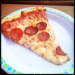 A slice of pepperoni. Photo by Vanessa Wolf