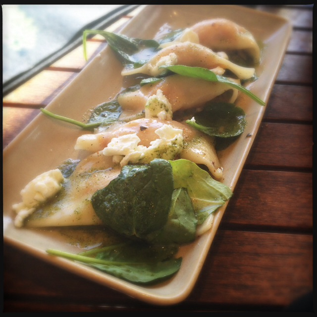 The Pumpkin Patch Ravioli was an unexpected delight. Photo by Vanessa Wolf