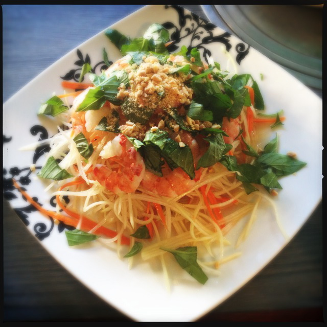The Green Papaya Salad is also very orange. Photo by Vanessa Wolf